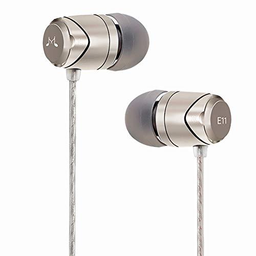 So&MAGIC E11 High Fidelity Kopfhörer Smartphone Earbuds In Ear Kopfhörer Hochwertige Ohrhörer mit Noise Reduction - Silber