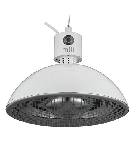Mill 99499 Hanging Carbon Patio Heater, 1500W, Light Grey