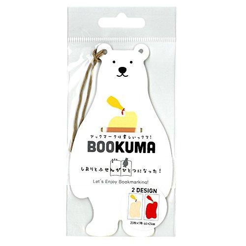 クラスタージャパン 付箋 BOOKUMA マヨネーズとケチャップ 2個パック C-BK-09-2P