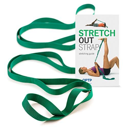 The Original Stretch Out Strap with Exercise Book – Made in the USA by OPTP – Top Choice of Physical Therapists & Athletic Trainers