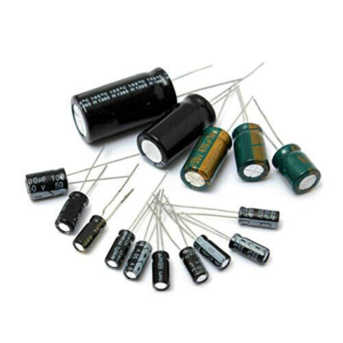 Ba30DEllylelly Kit Surtido de condensadores electrolíticos de Aluminio de 120 Piezas/Juego para...