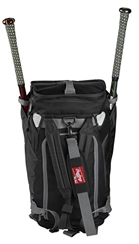 Rawlings Hybrid Duffel/Backpack Baseball/Softball Bag, Black