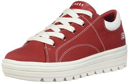 Skechers Street Cleat Bring It Back Womens Sneakers Dark Red 8