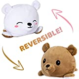 Reversible Bear Plush Toys Small Stuffed Animal Double-Sided Flip Mood Plushie
