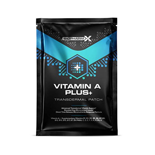 Vitamin A 1000mcg Patch (1 Month Supply) High Strength & Maximum Bioavailability Vitamin A Supplement