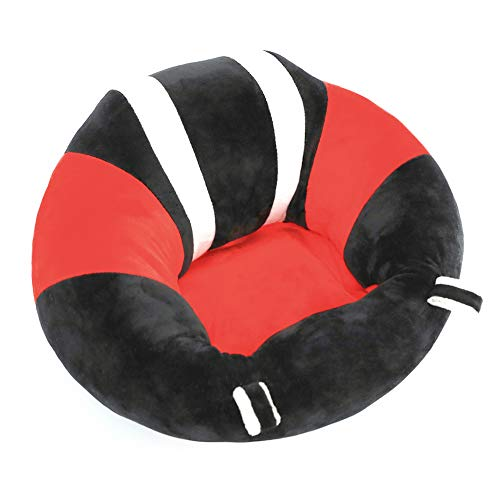 Baby Support Seat, Cute Baby Sofa Chair for Sitting Up, Comfy Plush Infant Seats with Stuffing Inside for 4-11 Months Baby