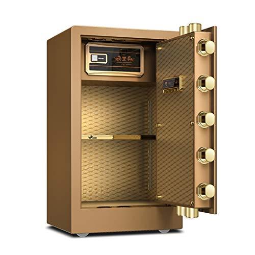 Sicherheitsschrank Electronic Home Safe mit Medium Haushalt kleiner Fingerabdruck Safe Office alle Stahl intelligente Anti-Diebstahl-Safe (Color : Gold-A, Size : 40 * 36 * 60CM)