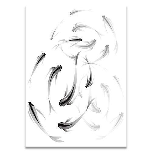 Poster afgedrukt op Canvas zwart-wit minimalistische schoen Print Canvas Poster Wall Art fotos voor woonkamer Home Wall Decor-40X60Cm