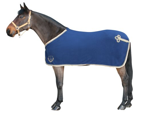 Couverture Polaire Exclusive avec Cordon décoratif - Bleu - 135 cm