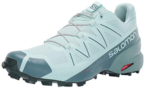 SALOMON Women's Speedcross 5 W Hiking Shoe, ICY Morning/Hydro./Green Gables, 7.5 UK
