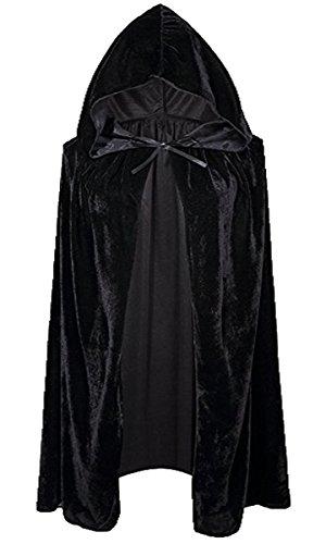 FAIRYRAIN Unisex Kinder Mädchen Jungen Umhang für Vampir Halloween Party Kostüm Cap Kapuze Karneval Fasching Kostüm Cape 100CM