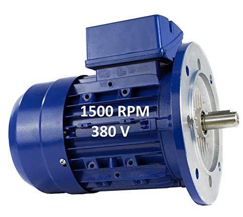 MOTOR ELECTRICO TRIFASICO 1,5KW / 2CV 220 / 380V 1500RPM B5 (BRIDA 200mm) TAMAÑO 90L - EJE 24mm ALREN