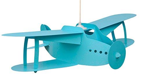 R. et M. Coudert - Plafonnier - Suspension Avion biplan bleu ciel