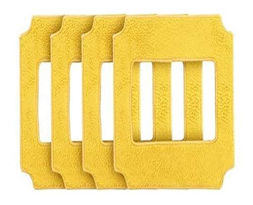 MeiZi For Adaptarse a Las fregonas 4pcs Amarillas De Limpieza de Ventanas Win660, RL880, RL1188 (Color : 4pcs Yellow mops)