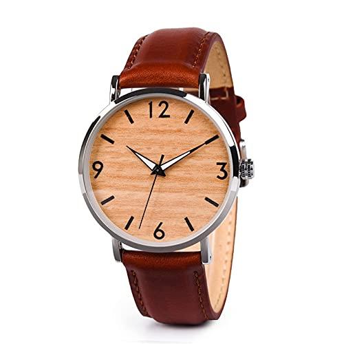 yuyan Cinturón de Cuero de Las Mujeres Reloj de Madera Moda Estudiante de Madera Reloj de Madera combinación de tecnología y Naturaleza testimonio de Amor
