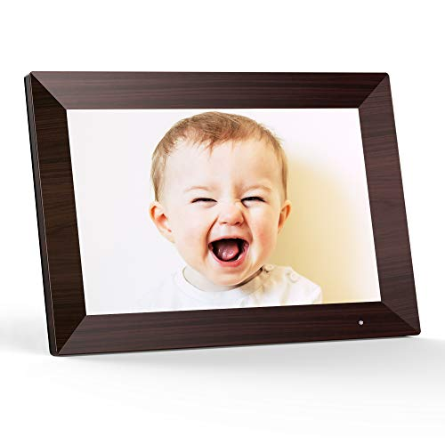 VANKYO WiFi Digital Photo Frame, 10.1 inch Touch Screen, Smart HD Display, Instant Share Photos and Videos via App, Email, Cloud, 16GB Storage, Auto-Rotate Digital Frames Picture