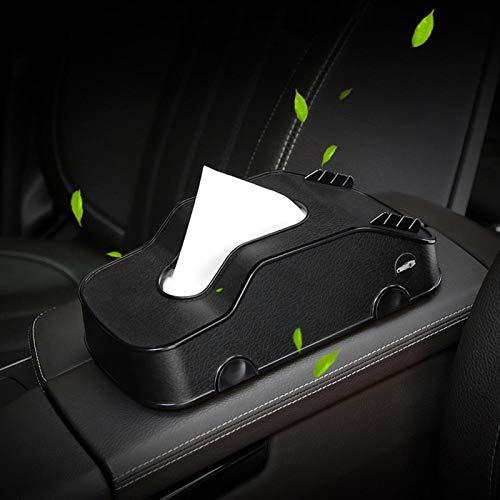 Multifunktions-3 in 1 Auto Tissue Box Automobil-Serviette-Halter Container Handy-Halterung Autozubehör (Color Name : Black)