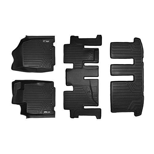 MAXLINER Floor Mats 3 Row Liner Set Black for 2013-2018 Nissan Pathfinder / 2013 Infiniti JX35 / 2014-2019 QX60