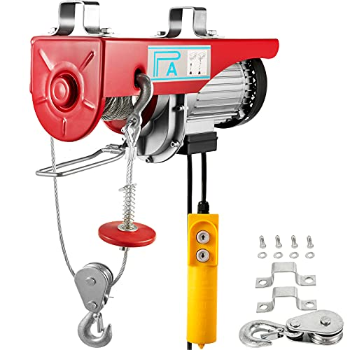 Happybuy 1760 LBS 1760LBS 110V, Remote Control Winch Overhead Crane Electric Wire Hoist for Factories, Warehouses, Construction, Building, Goods Lifting