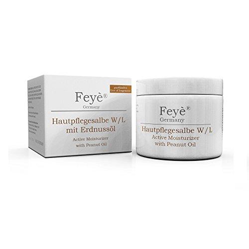 Feyè® Salbe mit Erdnussöl - Hautcreme bei sehr trockener Haut - Ekzem-Creme – Therapiebegleitung bei Psoriasis (Schuppenflechte) – Made in Germany