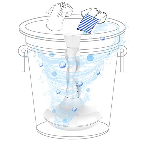 Portable Washing Machine, Mini Lightweight Automatic Clothes Washing Machine, USB Ultrasonic Rotating Turbine Washer Cleaner for Personal Laundry Camping Business Travel Apartment Home RVs