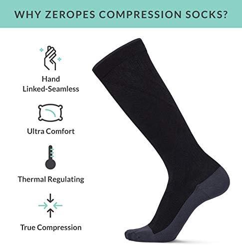 Premium Seamless Compression Socks for Women & Men 20-30 mmHg Knee-High (1 Pair)