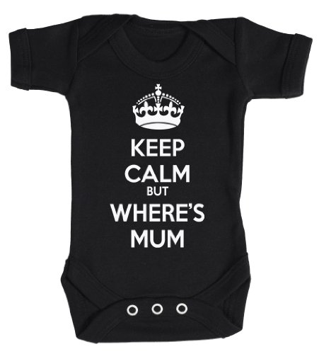 Baby Buddha - Keep Calm But Wheres Mum Bodys bébé 0-3 Mois Noir