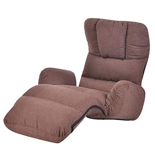 Stoel LKU Fauteuil vloer zitmeubilair 4 kleuren moderne opvouwbare luie fauteuil slaapbank slaapbank fauteuil, bruine kleur