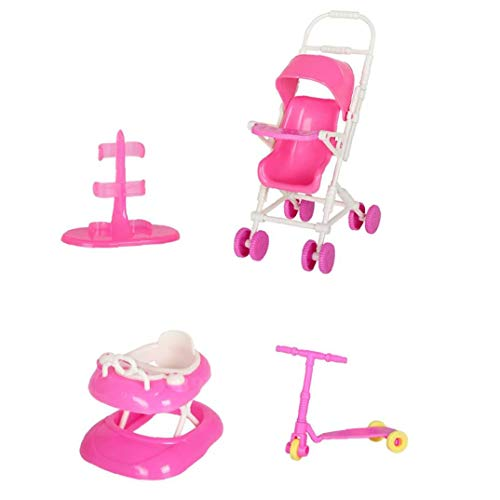 NIDONE Accesorios Accesorios Casa Conjunto De Juguete con Soporte del Cochecito De Bebé Walker Vespa para Toy Dolls