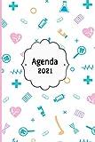 Agenda 2021: Tema Enfermera Medicina Agenda Mensual y Semanal + Organizador Diario I Planificador Semana Vista A4