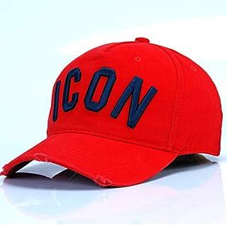 DSQICOND2 Gorra de béisbol Icon Letter Algodón Gorra de béisbol para Hombre Gorra de béisbol para Mujer Sombrero de papá Gorra de Camionero con Hueso de algodón