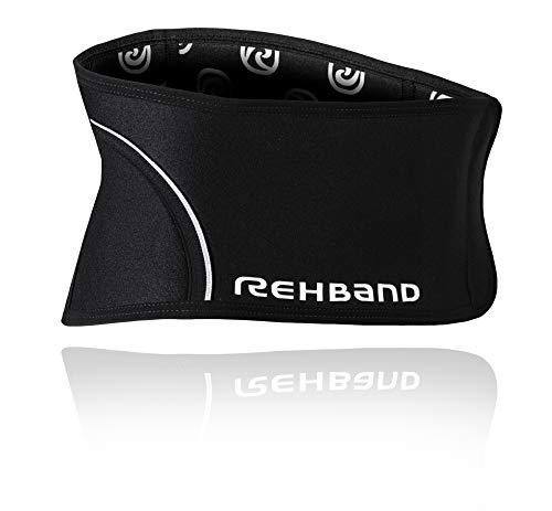Rehband QD Back Support - Faja lumbar (talla L), color negro