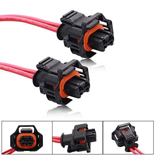 2pcs Fuel Pump Connector, HOPUT PT2183 Multi-Purpose Pigtail Connector Harness 88988963 Compatible with LLY LBZ LLM 6.6L Chevy GMC