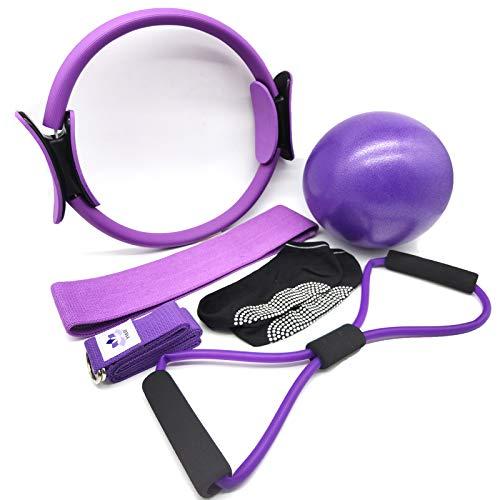 YXILEE 6Pcs Pilates Ring Set,Hom...