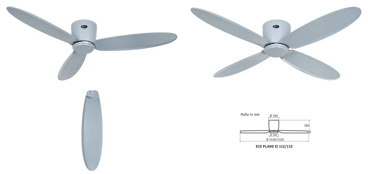 Casafan Ventilador para techos Bajos 313285 Eco Plano II Gris ...