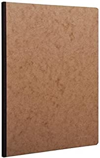 """Pack of 5 Clairefontaine Basic Large Clothbound Notebook (8 1/4""""x 11 3/4"""") TAN 192 Graph Pages"""