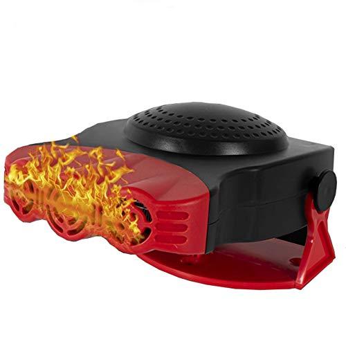 12V 150W Fahrzeug 2 Im 1 Heiß Abkühlen Lüfter Warmheizung Windschutzscheibe Demister Defroster Tragbare Auto-Auto-Luftheizung -200w-rot