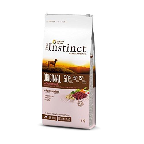 True Instinct Original - Nature's Variety - Croquettes pour Chien Adulte Medium-Maxi avec Agneau Frais - 12kg