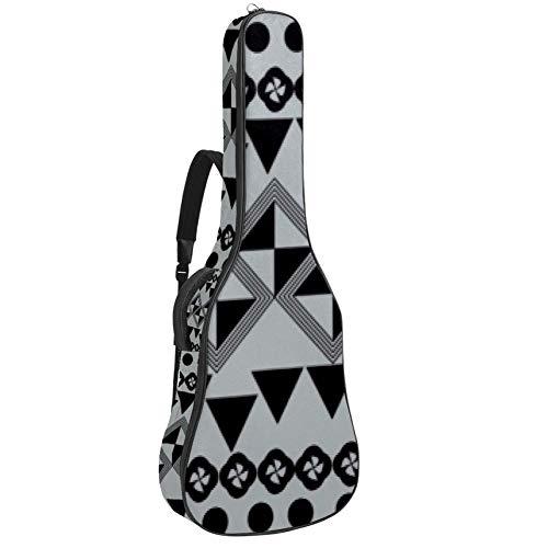Gitarren-Gigbag, wasserdicht, Reißverschluss, weicher Gitarren-Rucksack, Bass-Akustik- & klassische Folk-E-Gitarrentasche, Agile-Spielmodus