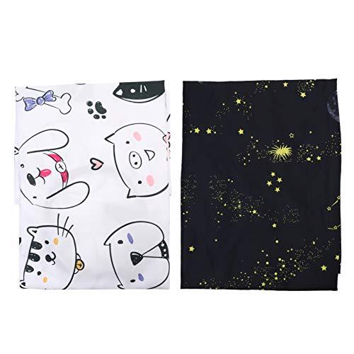 Lurrose 2 Pzas Capa de Corte de Pelo para Nios Delantal de Corte de Pelo para Nios Peluquero de Dibujos Animados Vestido de Saln de Peluquera con Gato Y Patrn de Cielo de Estrellas