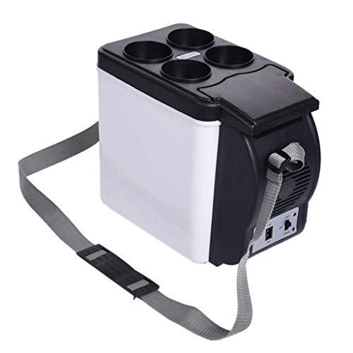 GJHBFUK Mini Nevera 6L Caliente Frío Fresco Eléctrico Portable Caja del Compresor del Congelador De Refrigerador For El Coche, El Barco Y Jardín Que Acampa - Negro