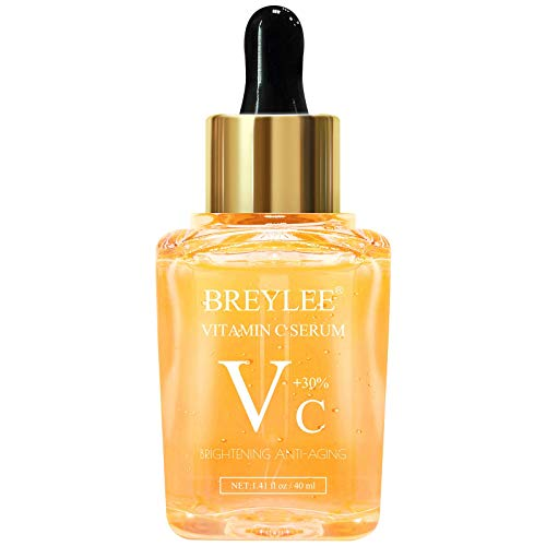 Vitamin C Serum, BREYLEE Anti-Aging Facial Serum with Hyaluronic Acid, Retinol, and Vitamin E Moisturizing Face Serum for Skin Nourishing and Smoothing Skin, Improve Sun Spots