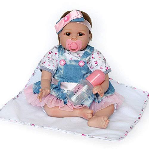 Reborn Babypuppen, Nurturing Dolls, Soft Tape Body Reborn Doll 55cm Simulation Babypuppe, 55cm