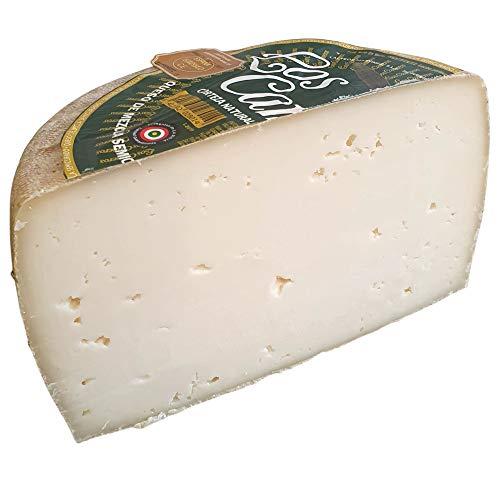 Queso Semicurado Los Cameros Etiqueta Verde - Queso Mezcla - Medio Queso Peso Aproximado 1,7 Kilogramos - Elaborado con una mezcla de leche de vaca, de oveja y de cabra