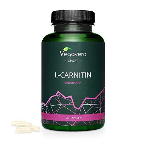 L - CARNITINA (CarniPure) 1000 mg Vegavero Sport | 120 capsule | L'UNICA SENZA ADDITIVI | Vegan