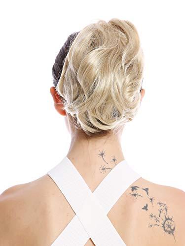 WIG ME UP - 1028-V-22 Postiche couette queue de cheval courte volumineuse ondulée blond clair 20 cm