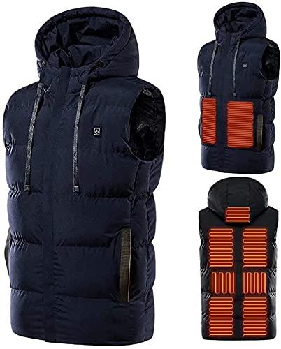SKYWPOJU Chaleco con calefacción eléctrica, Chalecos con calefacción USB para Hombres/Mujeres, Chalecos Ligeros para el Cuerpo Chalecos para Exteriores para Acampar al Aire Libre Senderismo Esquí