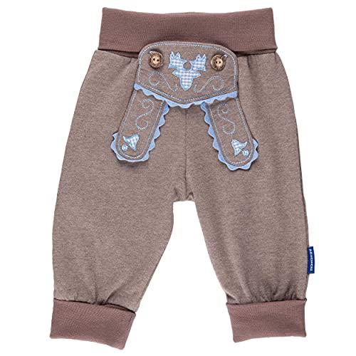 P.Eisenherz Baby Jogginghose Lederhosen Look, inkl. Geschenkverpackung, braun, 100% Baumwolle
