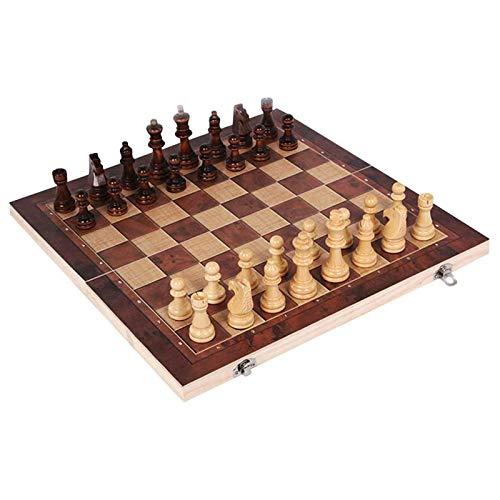 HYLX Juego de Tablero de ajedrez con Reloj, pequeño, Mediano, Grande, K9 Glass, Juego Internacional de ajedrez para niños y Adultos