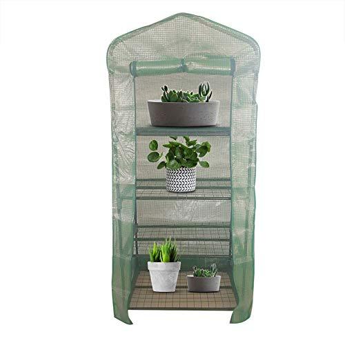 Mini invernadero portátil, protección de plantas de plástico para el hogar Invernadero cálido para plantas de interior al aire libre Cultivo de flores(El 143 * 73 * 195cm)